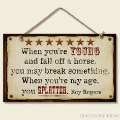 New When You Fall Off A Horse Sign Western Sentiment Plaque Wall Decor Accent | eBay