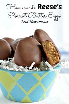 Homemade Reese's Peanut Butter Eggs | Real Housemoms | #Easter #dessert