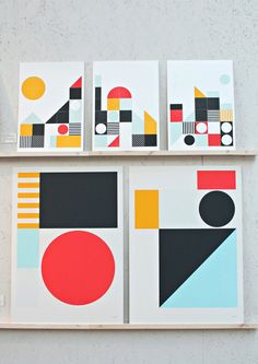 prints by Tom Pigeon - Collection Play Geometric Graphic Design, Geometric Pattern Design, Abstract Geometric Art, Graphic Patterns, Graphic Design Illustration, Graphic Art, Illustration Art, London Design Festival, Form
