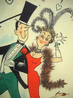 Vintage Illustrated Poster Vinegar Valentines by wallstantiques, $13.99
