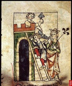 """Building Alexandria. Netherlands 14th cent. Royal 20. BL.  One might also categorize under """"Medieval."""""""