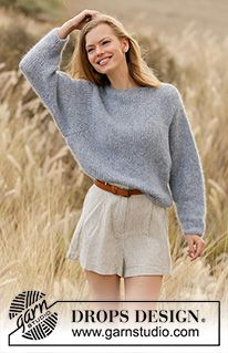 Free knitting patterns and crochet patterns by DROPS Design Sweater Knitting Patterns, Knit Patterns, Free Knitting, Drops Design, Yarn Brands, Work Tops, Garter Stitch, Cheers, Knit Crochet