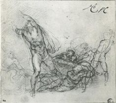 """Study for a """"Resurrection of Christ"""" - Michelangelo"""