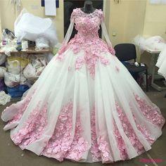 New Arrival Prom Dress,Modest Prom Dress,Flower wedding dress,pink wedding dress,ball gown wedding dress,wedding dress PD20187797