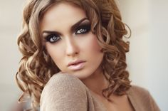 Stock Photo : Beautiful woman with make up and hairstyle Blonde Foils, Blonde Color, Blonde Hair, Make Up Looks, Angelina Jolie, Young And Beautiful, Beautiful Women, Too Faced Highlighter, Black And White Face
