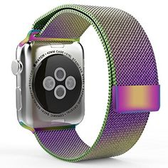 Apple Watch Band,38mm 42mm Mesh Replacement Strap Stainless Steel Milanese Loop Strap Magnetic Buckle Wrist Band for Apple iWatch All Models (Colorful 38 MM), http://www.amazon.com/dp/B01AGENJ66/ref=cm_sw_r_pi_awdm_PAl6wbSZ7K1DV