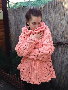 """Купить Жакет вязаный """" Фламинго """" в интернет магазине на Ярмарке Мастеров"""