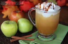 Apple Cider Floats sounds like heavenly fall in a cup! Apple Cider, Ginger ale, Vanilla ice cream, with a drizzle of caramel and dashes of nutmeg and cinnamon sounds like a PERFECT match to me! Fun Drinks, Yummy Drinks, Beverages, Apple Recipes, Fall Recipes, Yummy Recipes, Apple Cider Drink, Apple Cidar, Smoothies
