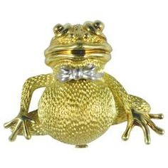 Henry Dunay Two Color Gold Formal Frog