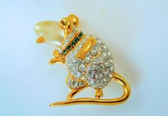 Kenneth Jay Lane House Mouse Pin  S1959 by SCLadyDiJewelry on Etsy
