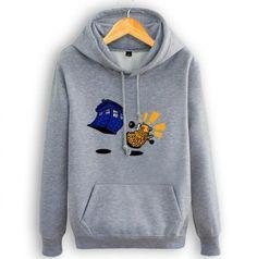 Mens Doctor Who fleece hoodie plus size Tardis and Dalek hooded sweatshirts