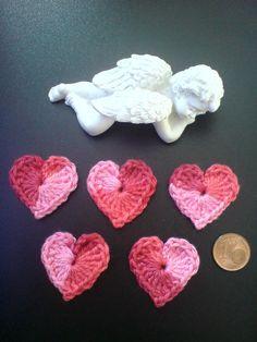 5 HERZ,HEARTS,HERZEN,APPLIKATION,AUFNÄHER - Jeder Kauf ist eine SPENDE FÜR KINDER in Afrika- 1,55  Euro