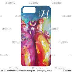 THE THIRD MASK Venetian Masquerade Monogram iPhone 7 Plus Case #carnival #fineart #masks #masquerade #theater #artist