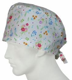 XL Surgical Caps Dainty Flowers - surgicalcaps.com