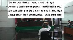 Buni Yani Gunakan Sumpah Tertinggi Dalam Agama Islam Di Sidang Vonis  Forumviral.com - Terdakwa pelanggar UU ITE, Buni Yani, kembali melontarkan sumpahnya dalam sidang vonis yang digelar di Gedung Dinas Perpustakaan dan Arsip, Jalan Seram, Kota Bandung, Selasa (14/11/2017) siang.  #BuniYani #Ahok #Islam #Sumpah #SumpahSerapah   Selengkapnya http://www.forumviral.com/2017/11/buni-yani-gunakan-sumpah-tertinggi.html