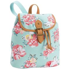 PB Teen Northfield Bloom Burst XS Backpack, Pastel ($29) ❤ liked on Polyvore featuring bags, backpacks, daypack bag, knapsack bag, hardware bag, faux-leather bags and padded backpack