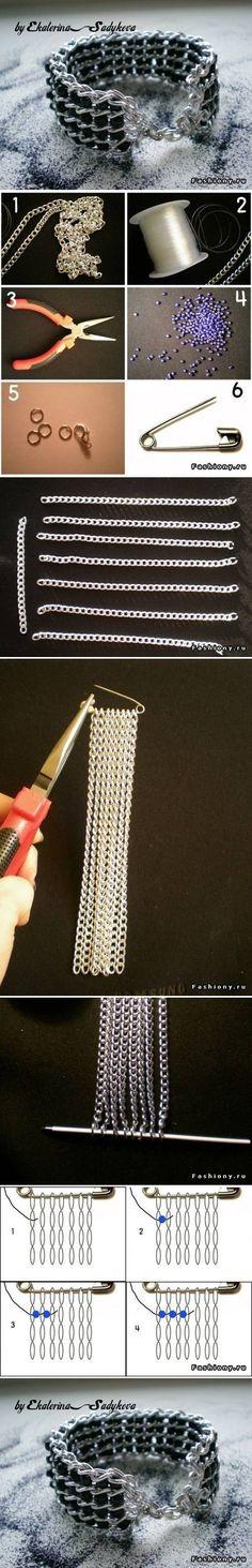 DIY Nice Wide Bracelet DIY Nice Wide Bracelet