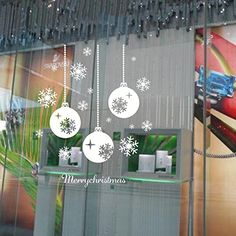 Mizzuco Merry Christmas Decorations Wall Art Decal Sticker for Kids Rooms Nursery Happy New Year Party Snowflake Lights PatternSDJ014 * See this great product.