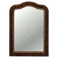 Hickory Manor House Arched Top Beveled Wall Mirror - 30W x 42H in. - HM8045