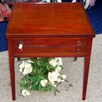 Vintage Hard-to-Find <i>Mersman</i> Mahogany Accent Table.  23 x 23 x 23.   <i> Rare Mersman furniture items like this frequently sell for $195 or more.  </i>  <b>Fred's Website Price: $75</b>
