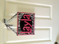 Zebra & Hot Pink name sign