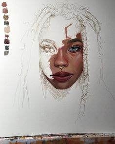 "My favorite artist: Ruth Speer!! (@septemberwildflowers) on Instagram: ""Practicing both using Arches oil paper and darker skin tones by painting a study of the lovely…"""