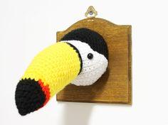 Mr. Tucano - Fun Crochet Fauxidermy by Ohioja #crochet #fauxidermy