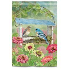 "Live with Joy Spring Garden Flag Inspirational Floral Butterflies 12.5/"" x 18/"""