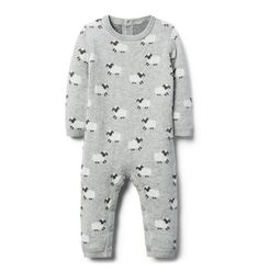 de71fbbcee5f9 Newborn Heather Grey Sheep Print Sheep 1-Piece by Janie and Jack Janie And  Jack