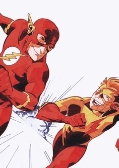 The Flash and Kid Flash Marvel Comic Universe, Comics Universe, Marvel Vs, Marvel Dc Comics, Flash Comics, Jinx And Kid Flash, O Flash, Flash Art, Wally West