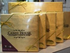 These delicious Candy House Chocolates, made locally in Joplin MO, make a fun compliment to a lovely fresh bouquet or a dz roses! Higdon Florist | Flowers and Gifts in Joplin, MO