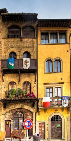 "Arezzo, Tuscany, Italy...if anyone has read ""Daughters of Siena"", these emblems may remind you of that story."
