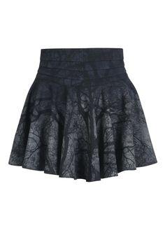 Punk Rave Black Metal Mini Skirt