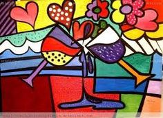 Resultado de imagen para romero britto musica Retro Kunst, Retro Art, Painting For Kids, Art For Kids, Painted Wooden Boxes, Abstract Face Art, Graffiti Painting, Graffiti Art, Arte Country