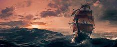 ArtStation - Sunset at sea, Hyae Na Ko Glassick