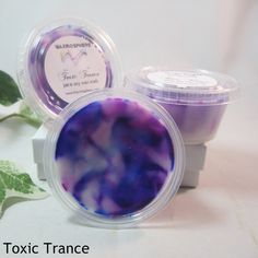 Toxic Trance: an incredible unisex fragrance of green citrus and soft florals of neroli and violet, with a hint of powdery musk.  www.Waxmosphere.com