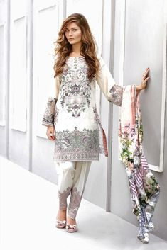 🌸Brand baroque🌸 ☑️Fabric lawn ☑️Product code ☑️Front full hvy embroidered ☑️Sleeves embroidered patch ☑️Trouser embroidered patch ☑️Shaffon dupatta ☑️ Rs ⚠️Swap right to see open pics⚠️ Premium lawn quality💯 Only @ F&F clothing sto Pakistani Fashion Casual, Pakistani Dresses Casual, Pakistani Dress Design, Indian Dresses, Asian Fashion, Indian Outfits, Eid Outfits, Hippy Chic, Pakistani Couture