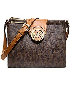 I think i want one: MICHAEL Michael Kors Handbag, Fulton Large Crossbody - Crossbody & Messenger Bags - Handbags & Accessories - Macy's