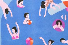 Léa Maupetit, Let's get cool in the pool (detail)Available on leamaupetit.fr/shop