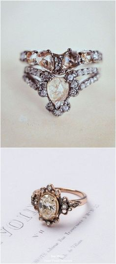 Sparkly Engagement Rings for Every Kind of Bride / http://www.deerpearlflowers.com/sparkly-engagement-rings-for-every-kind-of-bride/