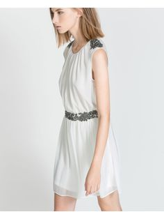 ZARA TRF - Dress with Detail On Shoulders and Waist