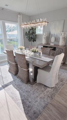 Dining Room Furniture, Dining Chairs, Dining Table, Dining Area, Luxury Lighting, Modern Lighting, Newport House, Area Rugs For Sale, Kitchen Dinning