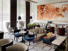 The St. Regis San Francisco—Lobby Lounge Mural | Flickr - Photo Sharing! ラウンジの感じがいい