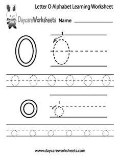 Preschool Letter O Alphabet Learning Worksheet