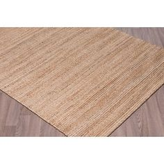 Shop for Woven Natural Jute Rugs Natural Rug (7'6 x 9'6). Get free shipping at Overstock.com - Your Online Home Decor Outlet Store! Get 5% in rewards with Club O!