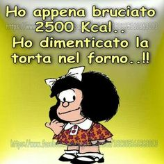 Mafalda e le calorie Thank You Friend, Italian Quotes, Feelings Words, Vintage Cartoon, Cute Cards, Good Mood, Funny Moments, Funny Images, Vignettes