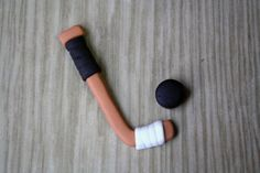 Hockey Stick and Puck - looks easy enough to make!