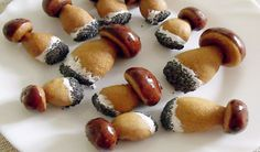 Xmas Cookies, Russian Recipes, No Bake Desserts, Mini Cupcakes, Finger Foods, Doughnut, Sushi, Panna Cotta, Stuffed Mushrooms