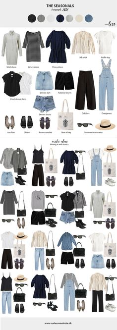 Summer capsule wardrobe: the seasonals. #capsulewardrobe #summercapsule #curated #closet #scandi #scandichic