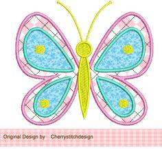 Butterfly Applique -4x4 5x7 -Machine Embroidery Applique Design. $2.99, via Etsy.